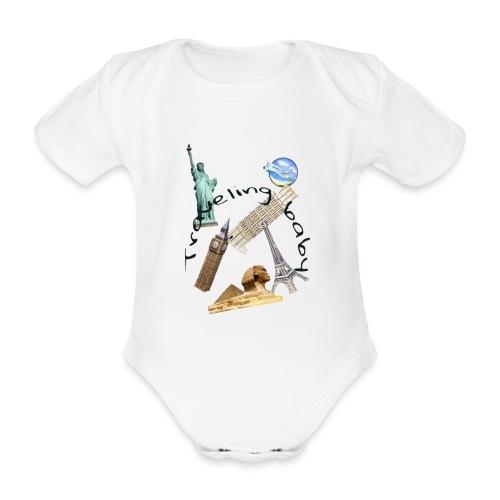 Traveling baby - Ekologisk kortärmad babybody