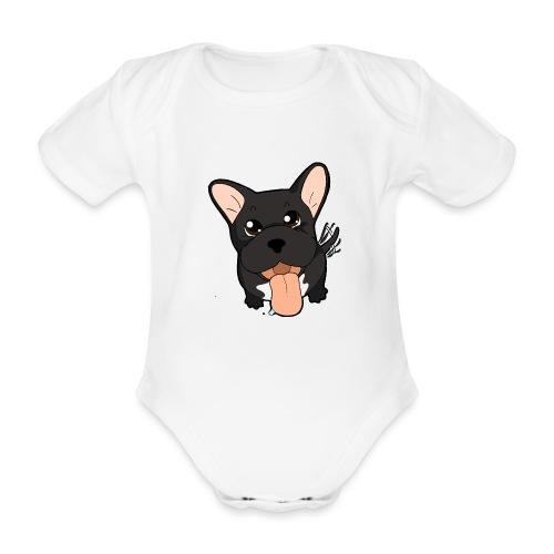 Bouledogue Francese nero - Body ecologico per neonato a manica corta