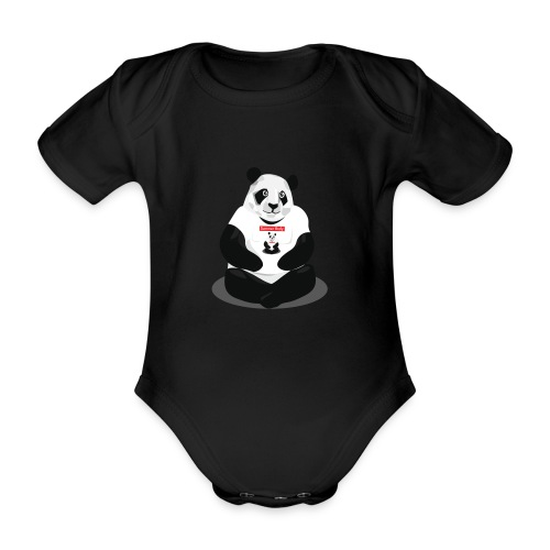 panda hd - Body Bébé bio manches courtes