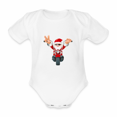Father X-Mas - Organic Short-sleeved Baby Bodysuit