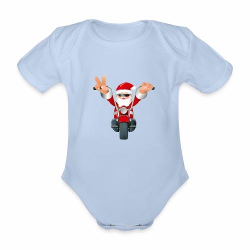 Father X-Mas - Organic Short-sleeved Baby Bodysuit