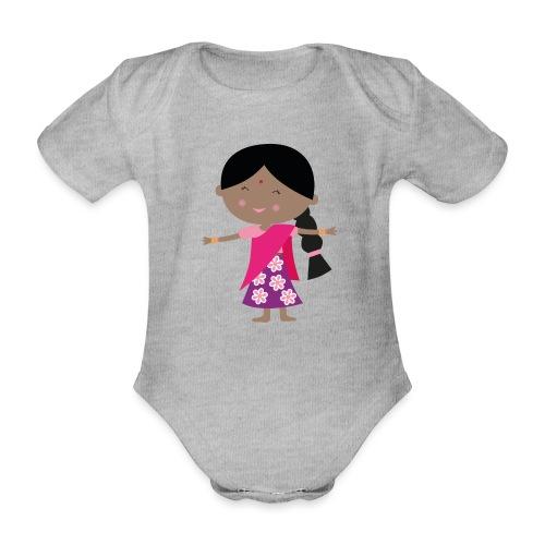 Happy Meitlis - Indien - Baby Bio-Kurzarm-Body