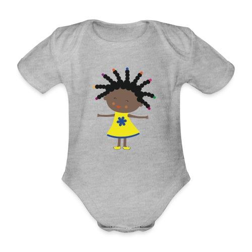 Happy Meitlis - Afrika - Baby Bio-Kurzarm-Body