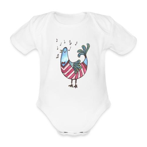 Tweet tweet - Kortærmet babybody, økologisk bomuld