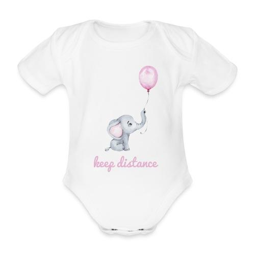 keep distance rosa - Baby Bio-Kurzarm-Body