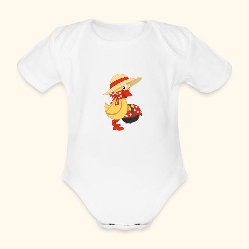 Schnatterinchen mit Korb - Baby Bio-Kurzarm-Body