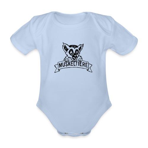 MUSKELTIERE_Logo_black - Baby Bio-Kurzarm-Body