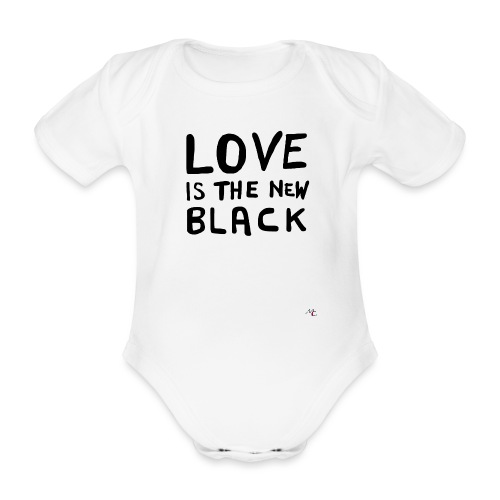 Love is the new black - Body ecologico per neonato a manica corta
