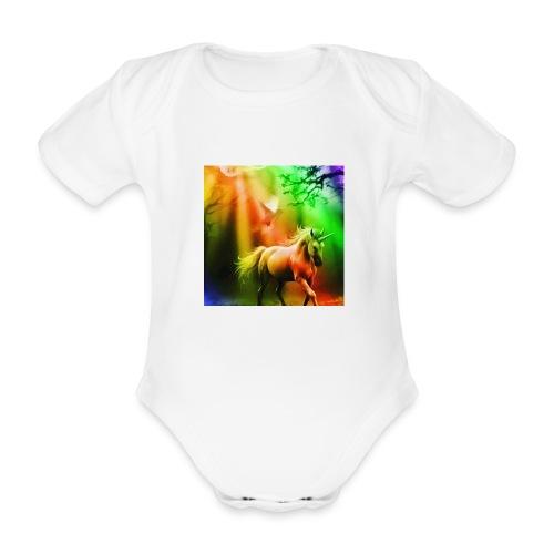 SASSY UNICORN - Organic Short-sleeved Baby Bodysuit