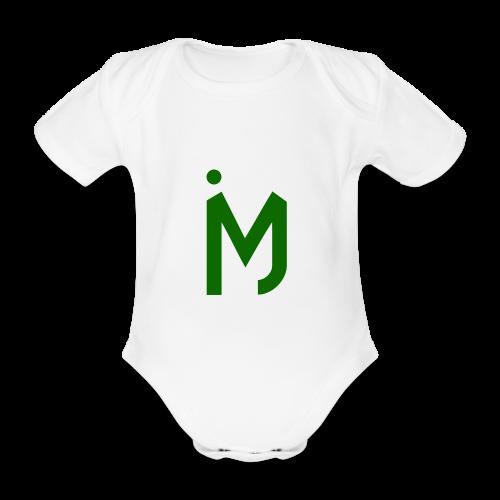 M Groen - Baby bio-rompertje met korte mouwen