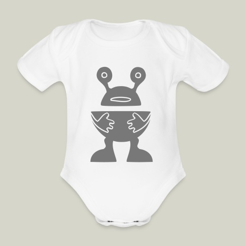 ROBOTTI - Organic Short-sleeved Baby Bodysuit