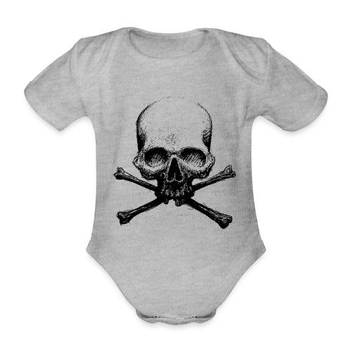 DeadSkull - Body ecologico per neonato a manica corta