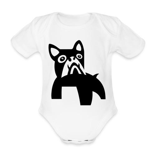 MadDog_kunst mit hund.eps - Baby Bio-Kurzarm-Body
