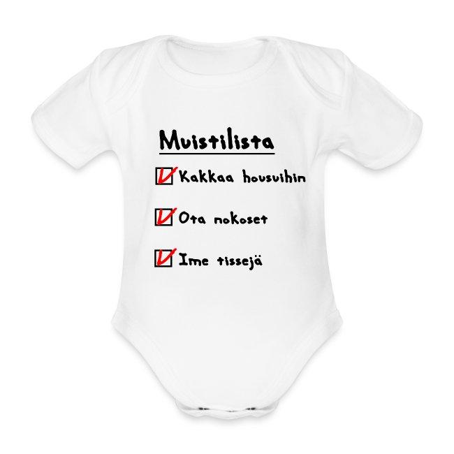 vauvan muistilista