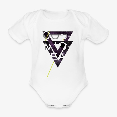 Cosmicleaf Triangles - Organic Short-sleeved Baby Bodysuit