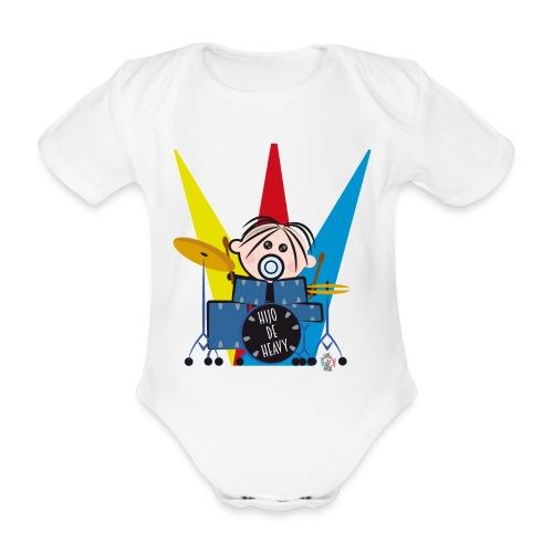 HIJO DE HEAVY - Body orgánico de maga corta para bebé