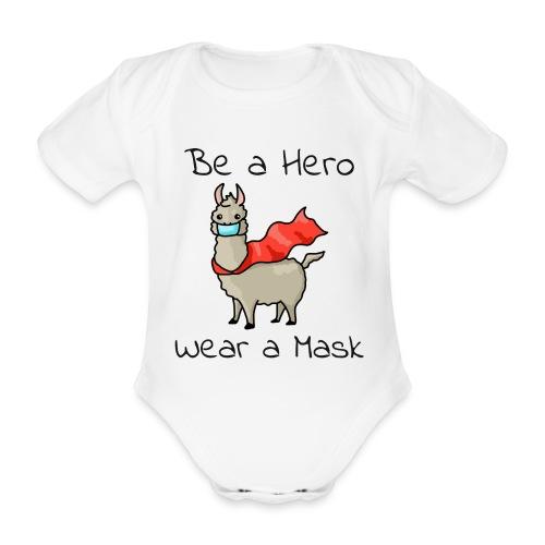 Sei ein Held, trag eine Maske - fight COVID-19 - Baby Bio-Kurzarm-Body