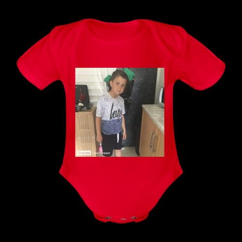 IMG 0463 - Organic Short-sleeved Baby Bodysuit