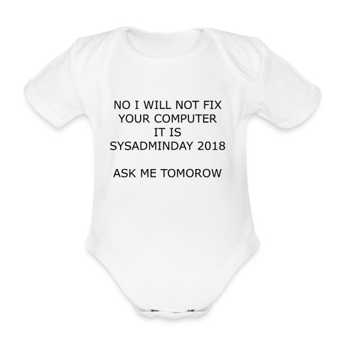 fixpc - Organic Short-sleeved Baby Bodysuit