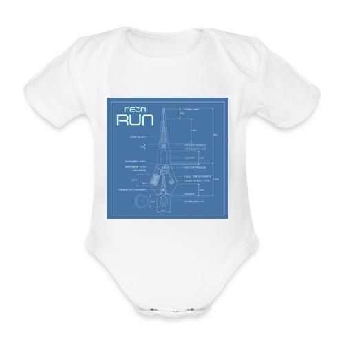 NeonRun blueprint - Baby bio-rompertje met korte mouwen
