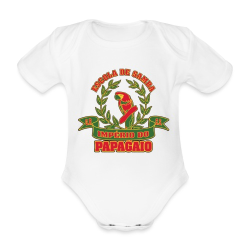 Papagaio logo - Vauvan lyhythihainen luomu-body