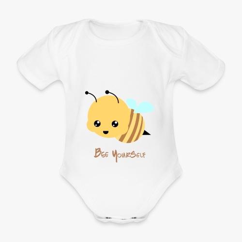 Bee Yourself - Kortærmet babybody, økologisk bomuld