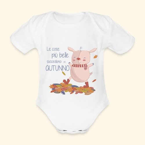 Autumn - Organic Short-sleeved Baby Bodysuit