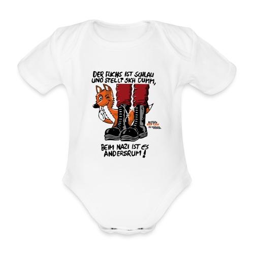 fuchsschlau - Baby Bio-Kurzarm-Body