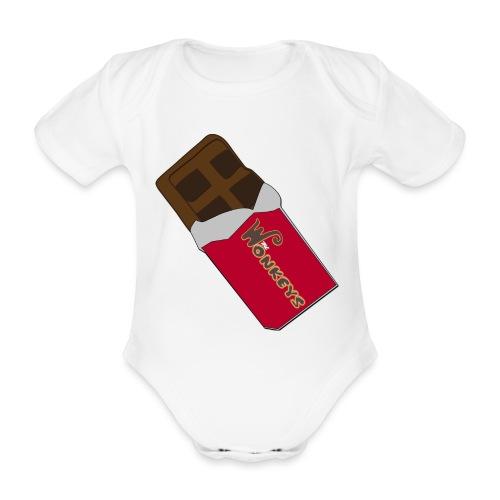 The Wonkeys Chocolate Edition - Body ecologico per neonato a manica corta