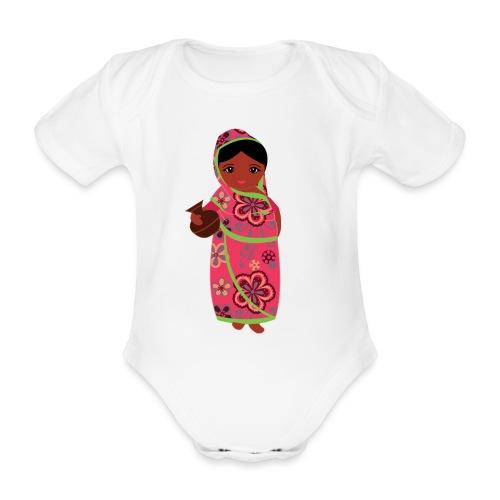 Lovedesh Art - Ira Kolshi Doll - Organic Short-sleeved Baby Bodysuit