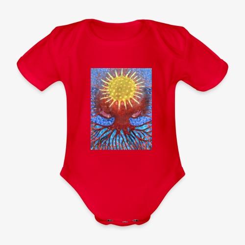 Niebiańskie Drzewo - Ekologiczne body niemowlęce z krótkim rękawem