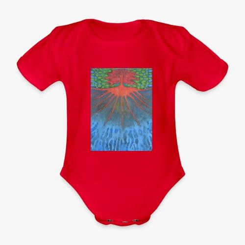 Drzewo Źycia - Ekologiczne body niemowlęce z krótkim rękawem