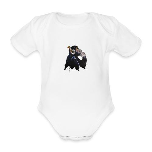 Affe von banksy kopiert - Baby Bio-Kurzarm-Body