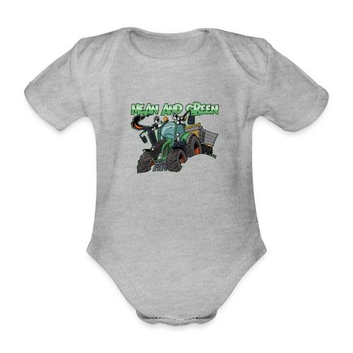 F 718Vario mean and green - Baby bio-rompertje met korte mouwen