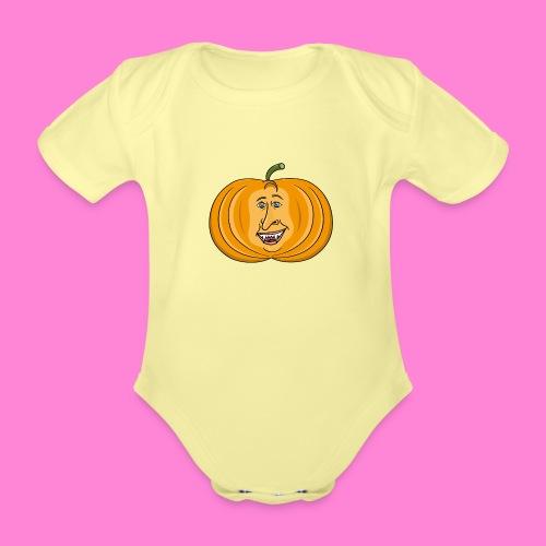 Rick pumpkin - Baby bio-rompertje met korte mouwen