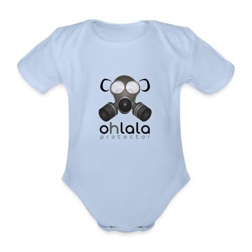 OHLALA PROTECTOR BLK - Body Bébé bio manches courtes