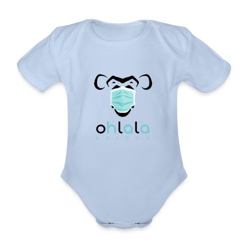 OHLALA CORONA WHITE - Body Bébé bio manches courtes