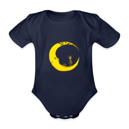 Fille sur la lune - Body Bébé bio manches courtes