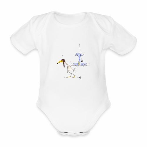 cartoon_Kleimdesign_abstu - Baby Bio-Kurzarm-Body