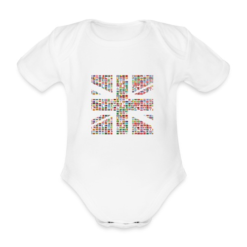The Union Hack - Organic Short-sleeved Baby Bodysuit