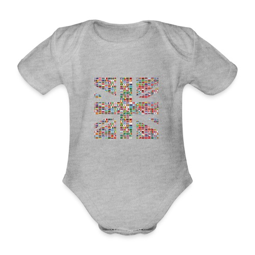 The Union Hack - Organic Short-sleeved Baby Bodysuit