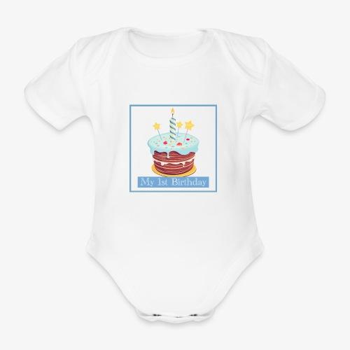 Birthday - Body ecologico per neonato a manica corta