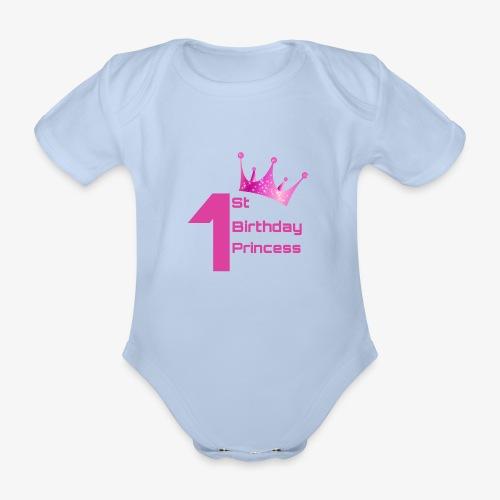 1st Birthday Princess - Body ecologico per neonato a manica corta