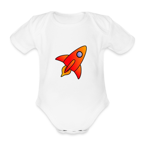 Red Rocket - Organic Short-sleeved Baby Bodysuit
