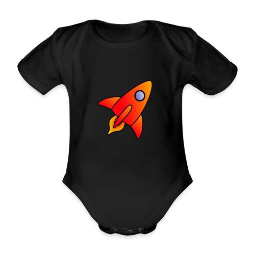 Red Rocket - Organic Short-sleeved Baby Bodysuit
