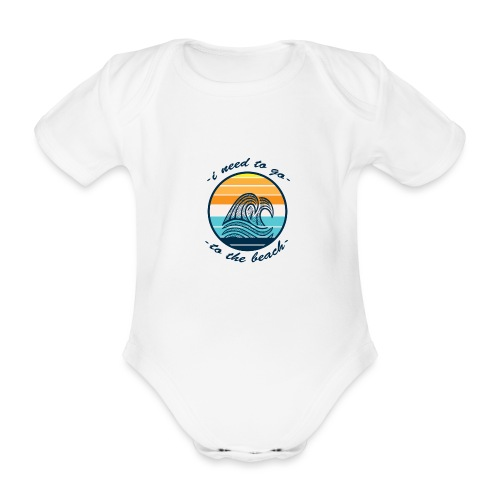 Beach Vibes - Baby Bio-Kurzarm-Body
