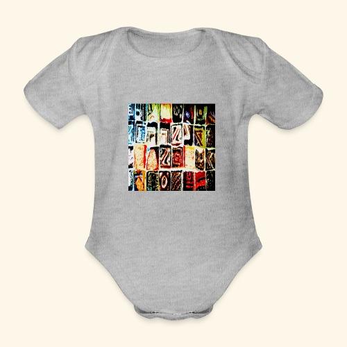 Mosaico - Body ecologico per neonato a manica corta