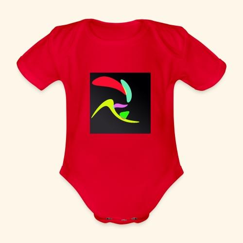 Pop art70 - Body ecologico per neonato a manica corta
