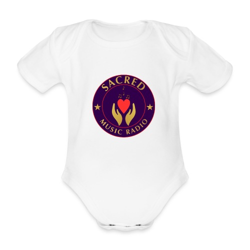 Spread Peace Through Music - Organic Short-sleeved Baby Bodysuit