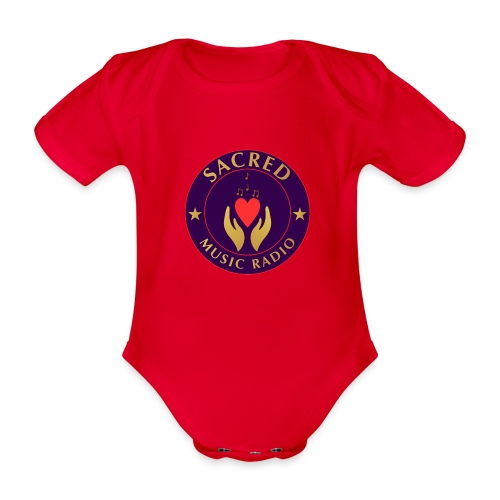 Spread Peace Through Music - Organic Short-sleeved Baby Bodysuit